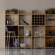 完美的实木酒柜
