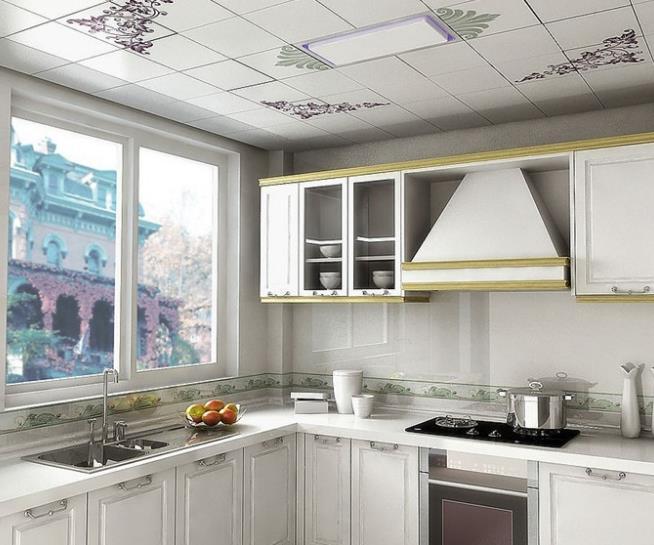 样开放式 厨房PVC 板吊顶装修效果图 齐