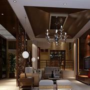 沉稳深色客厅设计