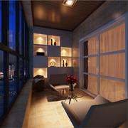 温暖舒适的阳台设计
