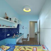 蓝色调唯美儿童房
