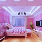 浪漫粉红卧室设计