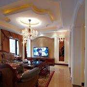 美式豪华客厅