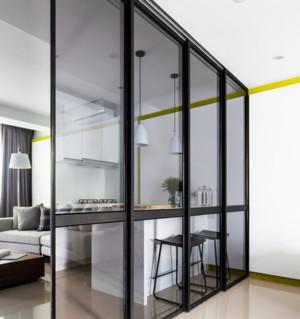 现代透视性家庭屏风隔断装修效果图
