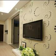 电视背景墙壁纸装修效果图