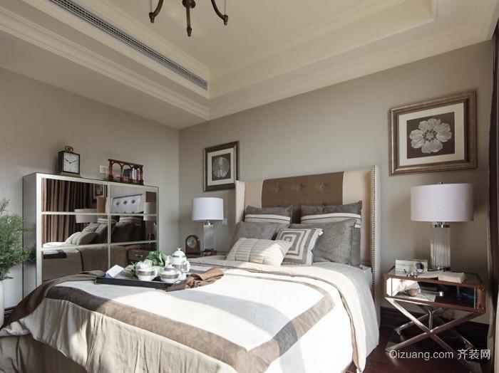 50平米美式石膏板卧室装修效果图
