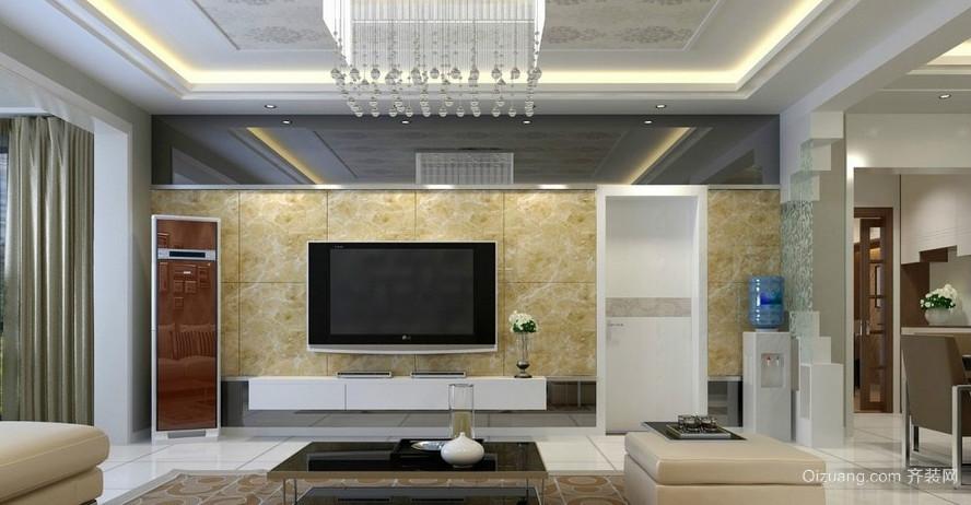 精简小户型客厅吊顶装修效果图