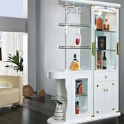 纯情白色酒柜设计
