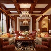 暖色客厅吊灯设计