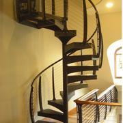 经典实木旋转楼梯