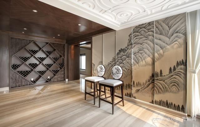 各种风格样式的家居酒柜装修效果图