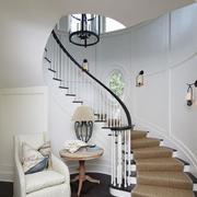 家庭实木楼梯装修