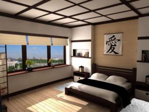 三室一厅日式简约卧室装修效果图
