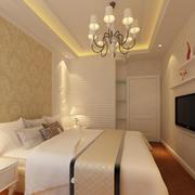 恬淡色调卧室灯光设计