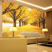 明亮黄色沙发背景墙