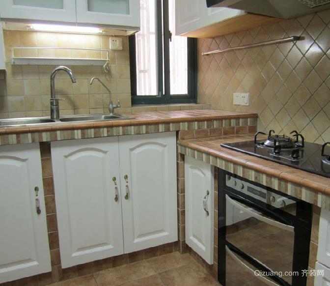 既省钱又 实用厨房砖砌 橱柜 装修 设计效果图 齐