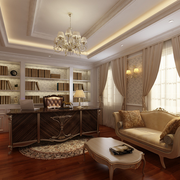 精美华丽的书房设计