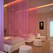 烂漫粉色美容院