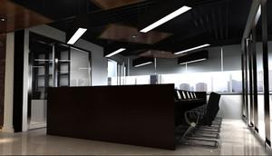 冷色调办公室设计