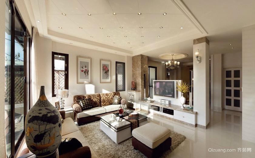 美式风格客厅吊顶装修效果图鉴赏
