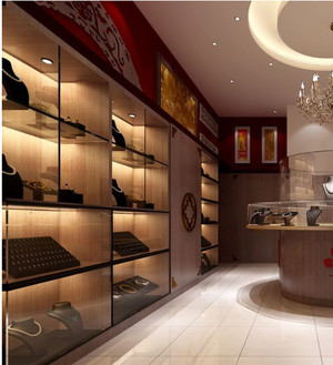 大型博物馆珠宝展柜设计装修效果图