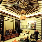 明亮黄色客厅吊顶设计