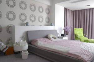 两室一厅韩式清新简约卧室装修效果图