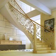 明亮黄色楼梯设计