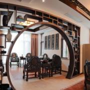 客厅实木桌椅装修效果图
