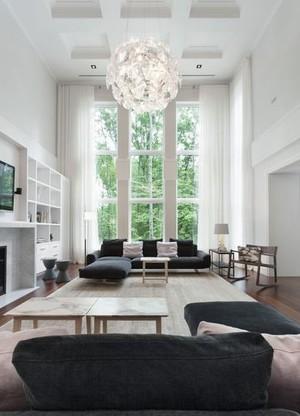 2015小复式楼全新款式客厅窗帘装修效果图
