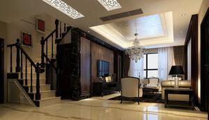 中式风格小户型家庭装修效果图