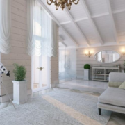 纯情白色客厅