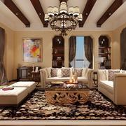 高贵的美式客厅设计