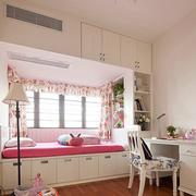 浪漫粉色窗帘设计
