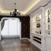 唯美白色欧式酒柜
