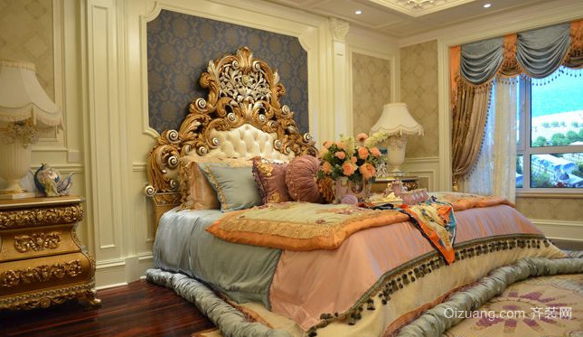 50平米皇室高贵法式风格卧室装修效果图