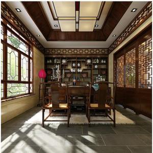 中式传统书房书柜