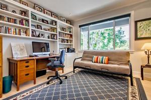 银灰色都市简约风格书房设计装修效果图鉴赏