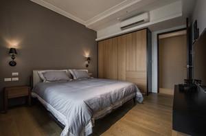 人文知性的银灰色卧室背景墙装修效果图鉴赏