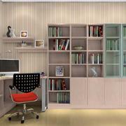 雅致现代小书房书柜