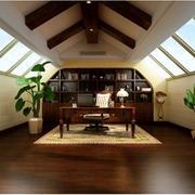 阁楼美式书房书柜