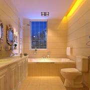 温馨黄色卫生间设计