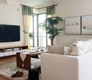 结构优美大气的现代简约风格客厅飘窗装修效果图