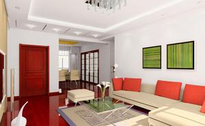 客厅精致现代装潢