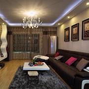 深色系的客厅沙发展示