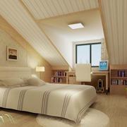 暖色调阁楼卧室设计