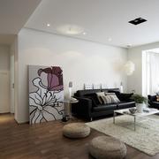 淡雅色客厅设计