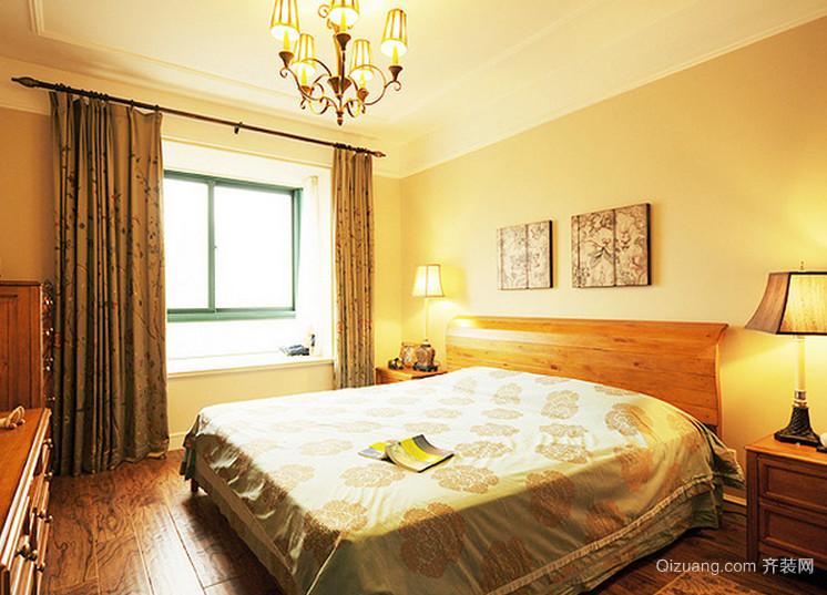 淡雅黄色的现代都市风格卧室背景墙装修效果图鉴赏