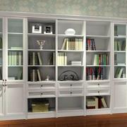 白色大户型书柜