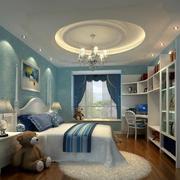 蓝色大户型儿童房